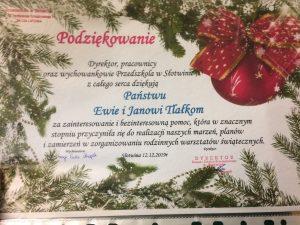 Warsztaty Świat Bozego Narodzenia SP Słotwina 201901