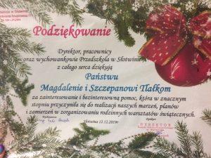Warsztaty Świat Bozego Narodzenia SP Słotwina 201902