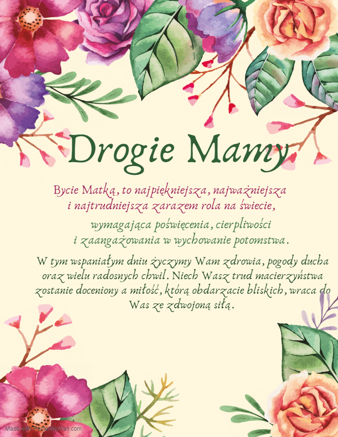 życzenia dzień matki